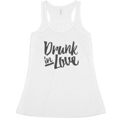 Cute Drunk In Love Bachelorette Party Bride Tank