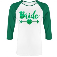 Green Metallic Irish Bride Raglan