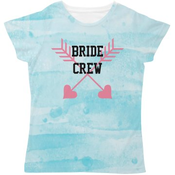 All Over Print Bride Crew Tshirt