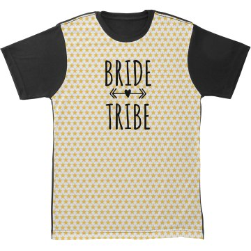 All Over Print Bride Tribe Tshirt With Arrow Heart