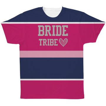 All Over Print Pattern Bride Tribe Tshirt
