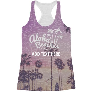 All Over Printing Palm Aloha