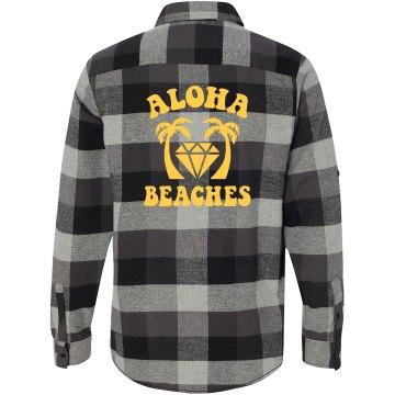 Aloha Beaches Flannel Shirt