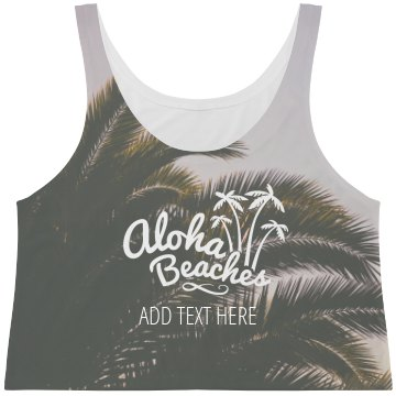 Aloha Beaches Palm Tree Print