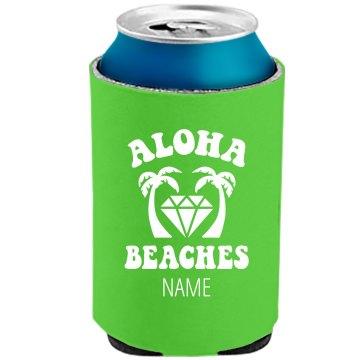 Aloha Bitches Neon Koozie Bridal