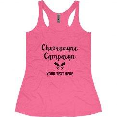 Champagne Campaign Bachelorette Tank tops