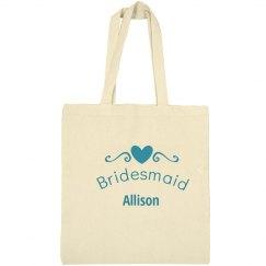 Bridesmaid heart tote bag