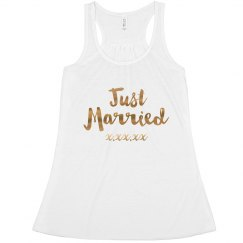 Just Married Gold Metallic