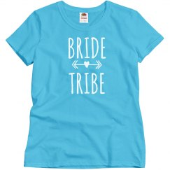 Bride Tribe Tshirt With Arrow Heart