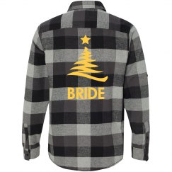Xmas Bride Flannel Shirts