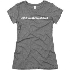 #WeCameWeSawWeWed
