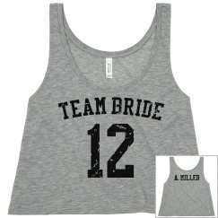 Team Bride Crop w/Back
