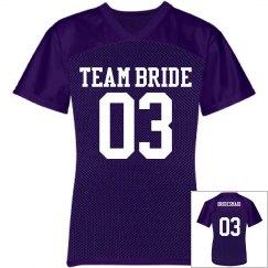 Team Bride Jersey w/Back