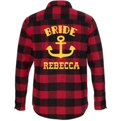 Bride Nautical Flannel Shirt