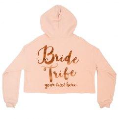 Metallic Custom Bride Tribe Crop
