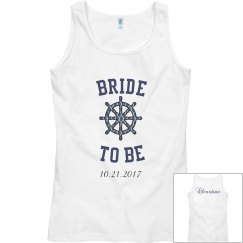 Bride to be Nautical Tank