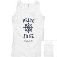 Bride to be Nautical Tank