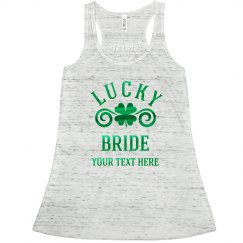 Metallic Lucky Bride Shamrock