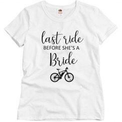 Last Ride Before the Bride