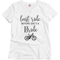 Last Ride Before the Bride