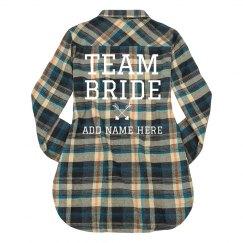 Custom Plaid Team Bride