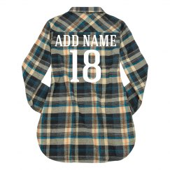 Brides New Last Name Trendy Plaid
