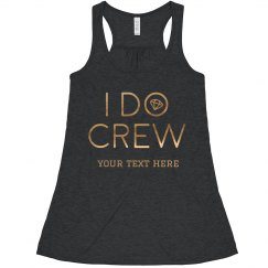 I Do Crew Trendy Flowy Tank