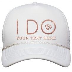 I Do Crew Bachelorette Metallic Hat