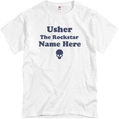 Custom Nickname Usher Tee