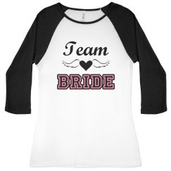 Team Bride Winged Heart