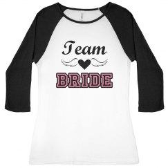 Team Bride Winged Heart