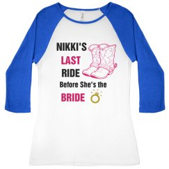 Bride Last Ride Bling Tee