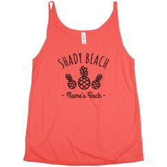 Custom Bachelorette's Shady Beach