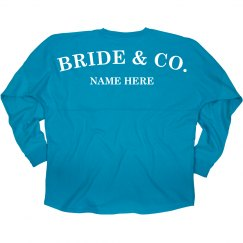 Your Name Bride and Co. Jersey