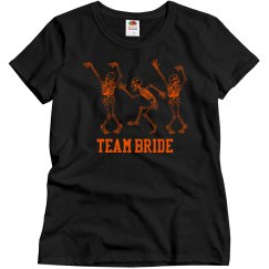 Halloween Wedding Team Bride Tshirts
