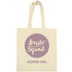 Flower Girl Script Tote
