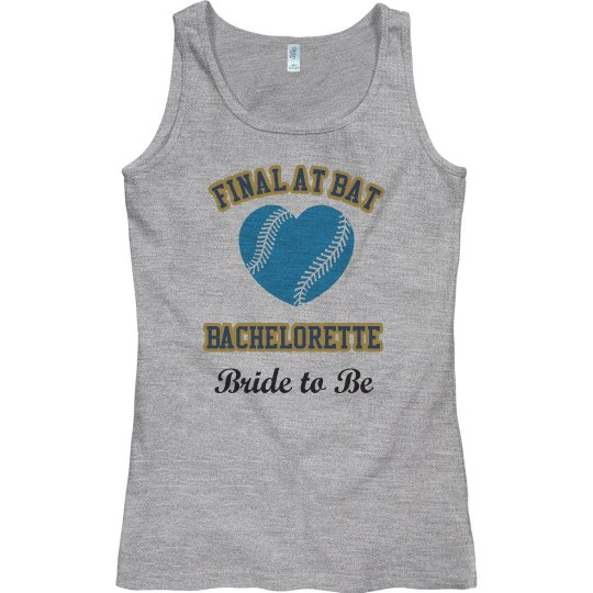 Bachelorette Baseball Tank top