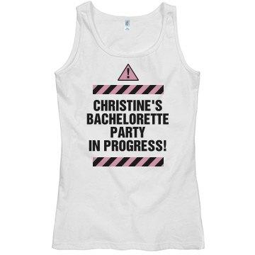 Bachelorette Caution