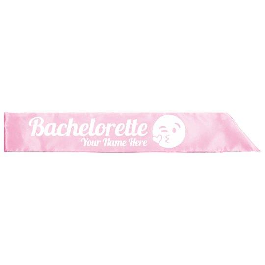 Bachelorette Emoji Sash