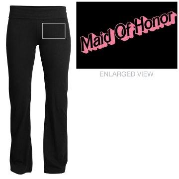 """Barbie Maid of Honor"" Yoga pants"