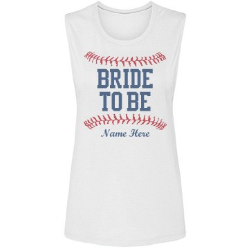Baseball Bride to Be Girl