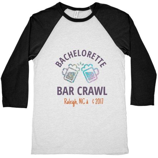 Baseball Shirt w/ Glitter