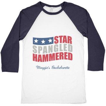 Baseball Tee Star Spangled Hammered