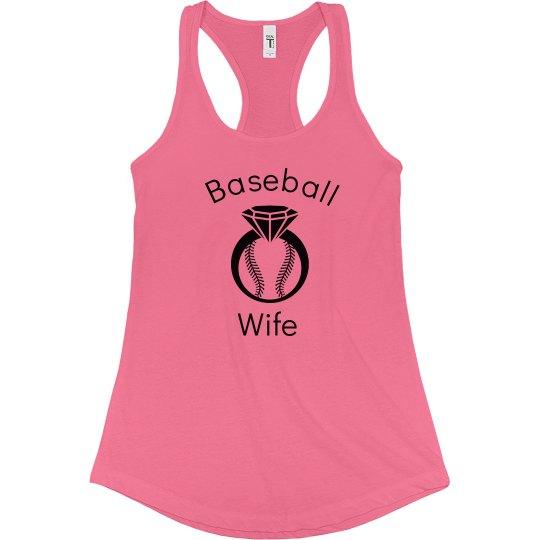 Baseball Wife Raceback Tee