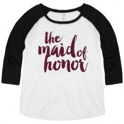 Ladies Curvy Plus Size Raglan Baseball Tee