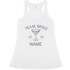 Custom Team Bride Martini