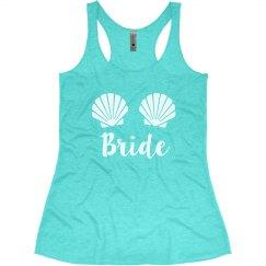 Mermaid Bride Sea Shells Bachelorette Tank Tops