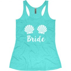 Mermaid Bride Sea Shells Bachelorette Tank Tops