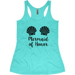 Mermaid of Honor Bachelorette Tank Top