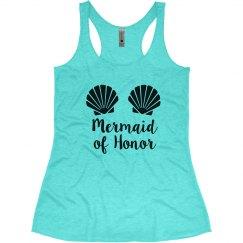 Mermaid of Honor Bachelorette Tank Top
